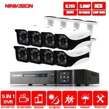 HD 5MP H.265 nadzoru wideo 8 kamer aparatu bezpieczeństwa zestaw dla CCTV kryty odkryty System kamer bezpieczeństwa kamera AHD DVR P2P