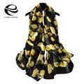 Lemon bufanda de marca de lujo de las mujeres de gran tamaño lindo bufandas de seda pura y bandana echarpes fulares femme marca largo mantón de la manera de nueva