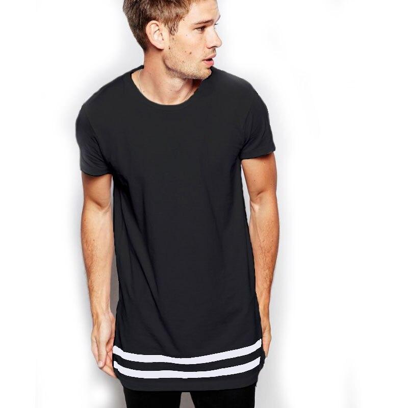 moomphya streetwear men t shirt extended longline hipster t shirt men stripes t shirt homme long. Black Bedroom Furniture Sets. Home Design Ideas