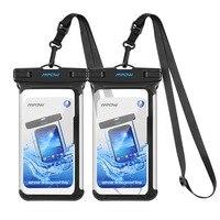 1/2 шт IPX8 Водонепроницаемый телефона для плавания подводный чехол ПВХ Crystal Clear сумка для iPhone для samsung для huawei
