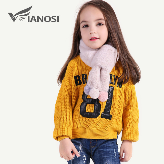 VIANOSI Beautiful Girl Scarf Winter Fashion Warm Faux Fur Scarves for Baby Christmas Gift CH015