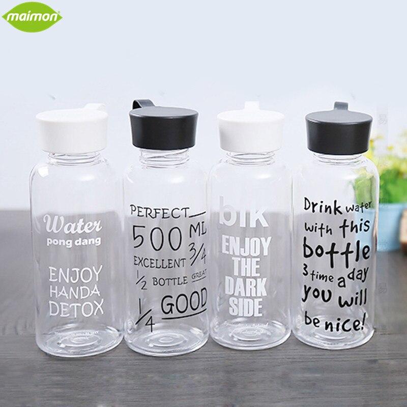 560 ml Portátil de Moda de Corea Carta Botella de Plástico Libre De BPA Botella