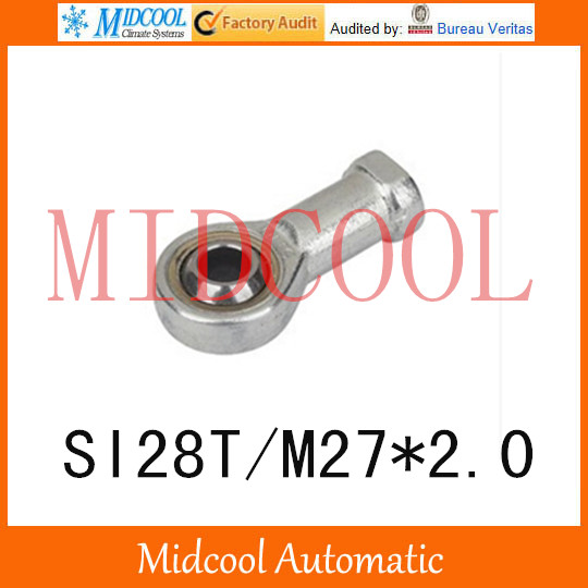 ФОТО Cylinder joint internal SI28T/M27*2.0 thread 28mm fisheye joint rod end joint bearing small connecting rod