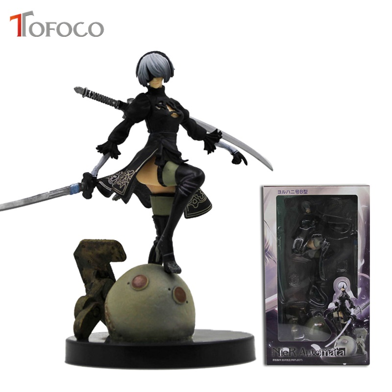 TOFOCO 15cm Nier Automata 2B Yorha No.2 Type B Pvc Action Figure Collectible Model  Ps4 Game Anime Figure Toy Doll Gift босоножки l0343 2 2014 15 cm