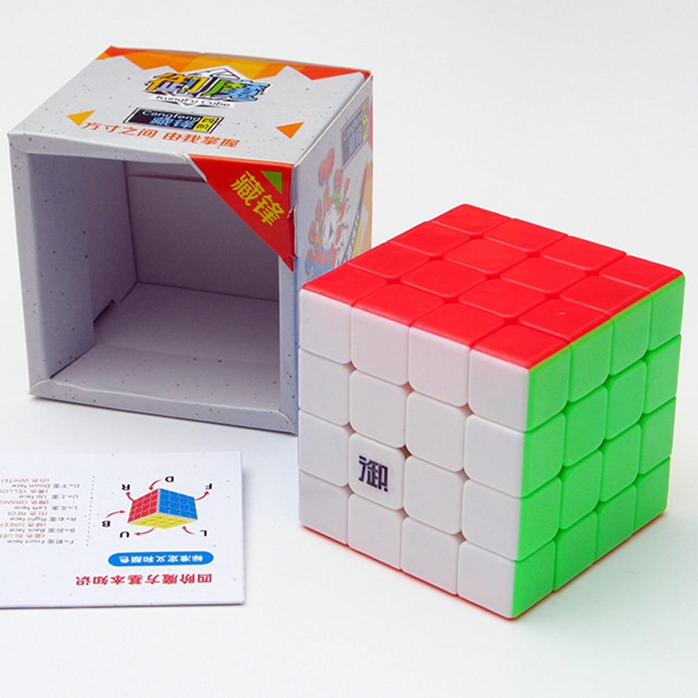 4*4 YuMo Professional 4 Layers Magic Cube KungFu Kids Toys for Chidren Speed CangFeng 4x4x4 Puzzle Anti stress Cubo Megico