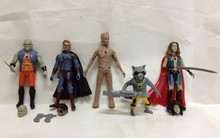 5pcs/set New Movie Guardians of the Galaxy Action Figures Star-Lord Groot Rocket Raccoon Gamora Collection Figure 9-15CM