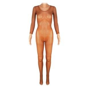Image 2 - Latin Full Body Jumpsuits Professional Fishnet Ballroom&Latin Dance Hard Yarn Elastic Latin Stockings Pantyhose