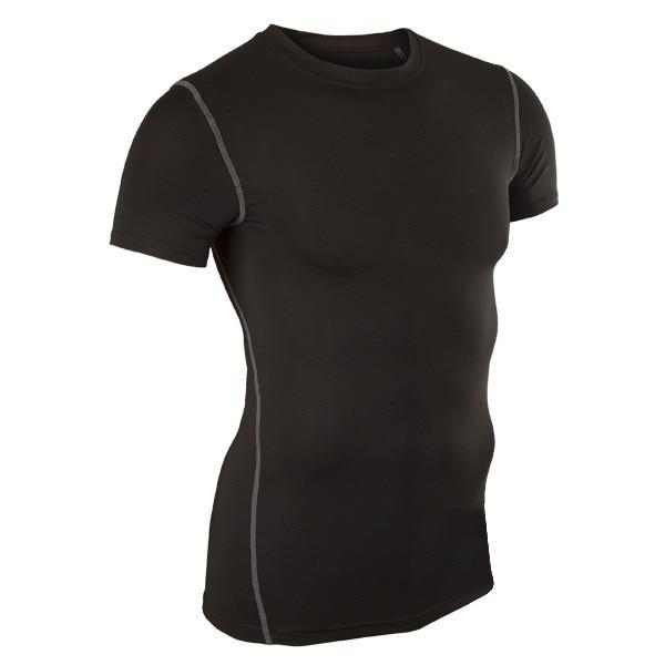 Mäns kortärmad tröja Löpande MMA Workout Fitness Tight - Herrkläder