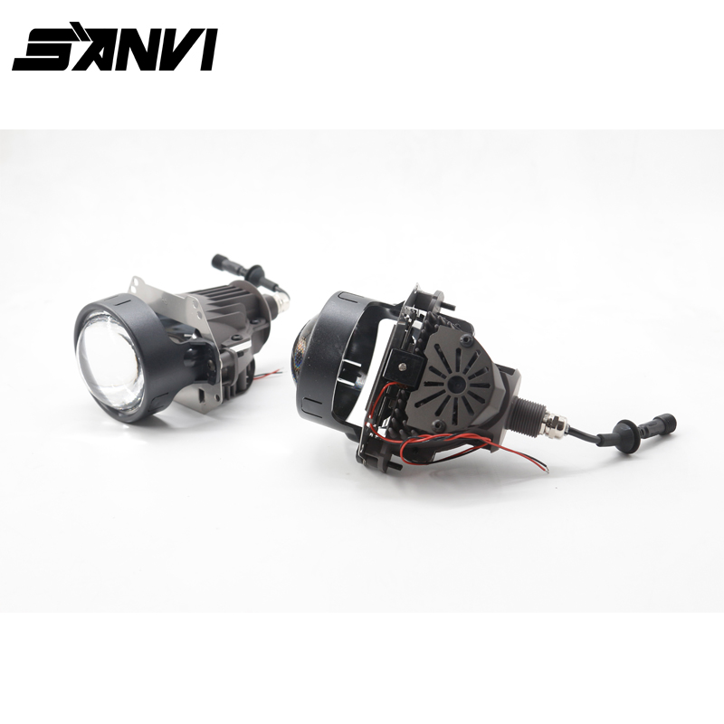 New High Quality SANVI LED Projector Lens Headlight 35W 5500K Cree Chip 3 inch High Low Beam Car LED Headlight high quality new car led headlight with ballast mask angel eye 35w 6000k car led projector lens headlight