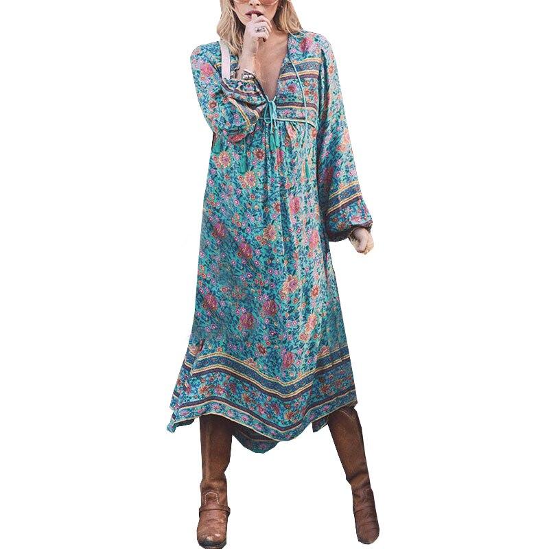 Bohemia Maternity Dress long sleeve Vestidos For Pregnant Women Clothes tassel print dresses Pregnancy Gravidas Clothing Autumn