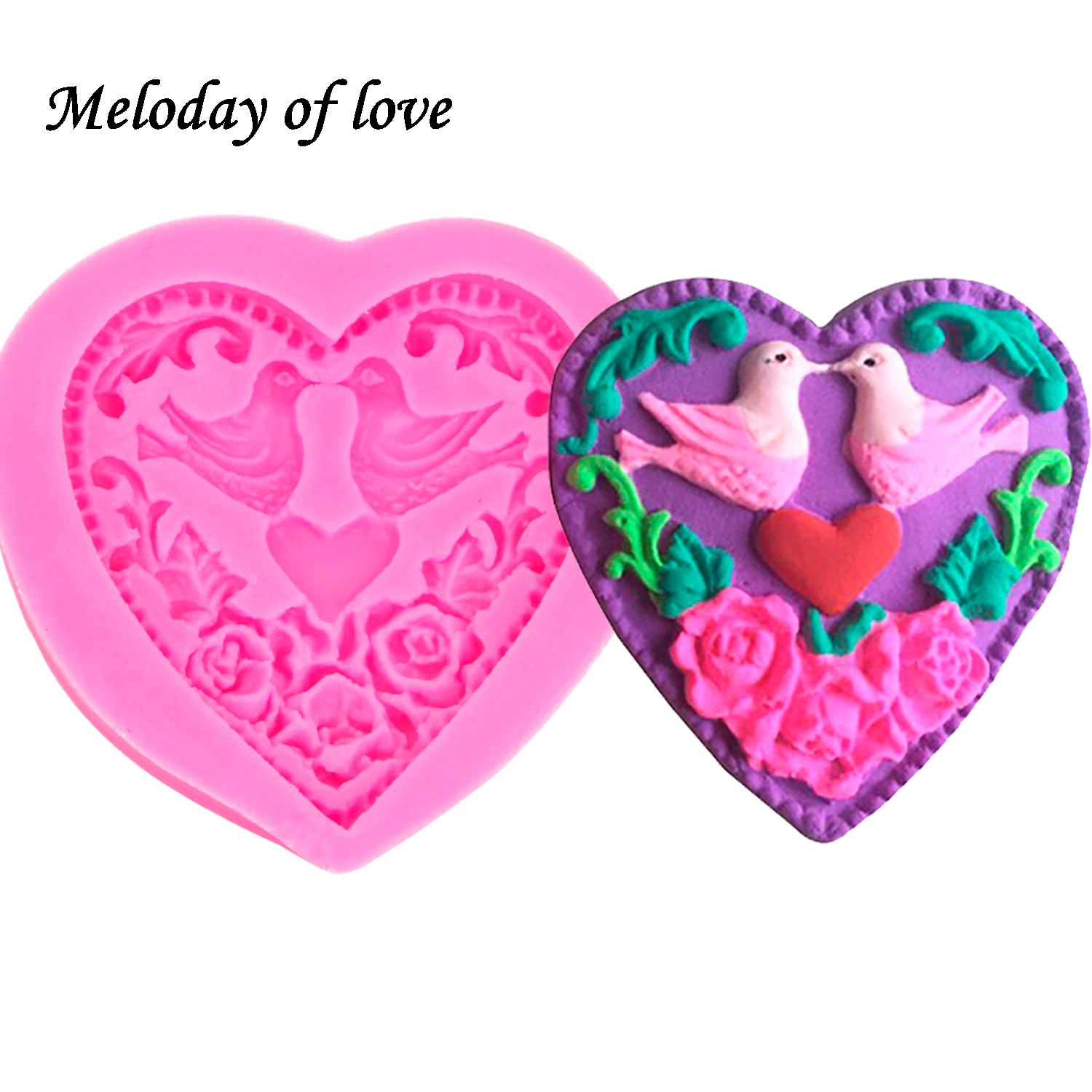 Love Silicone Molds For Epoxy Resin DIY Fondant Cake Mould Decoration