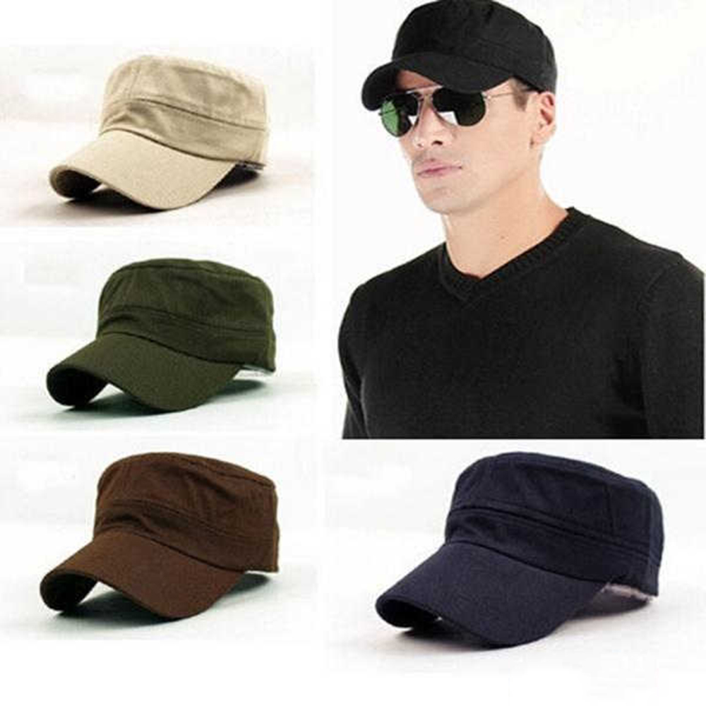 Thefound Cotton Gatsby Cap Mens Military Hat Summer Flat Adult Fashion Newsboy Cap