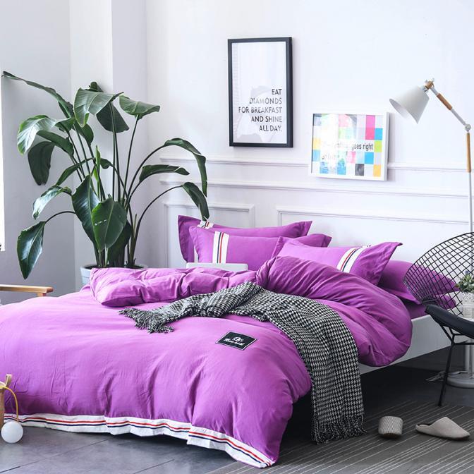 Factory direct wholesale bedding bedset bedline four set 100%cotton four piece pastoral Korean cotton four set