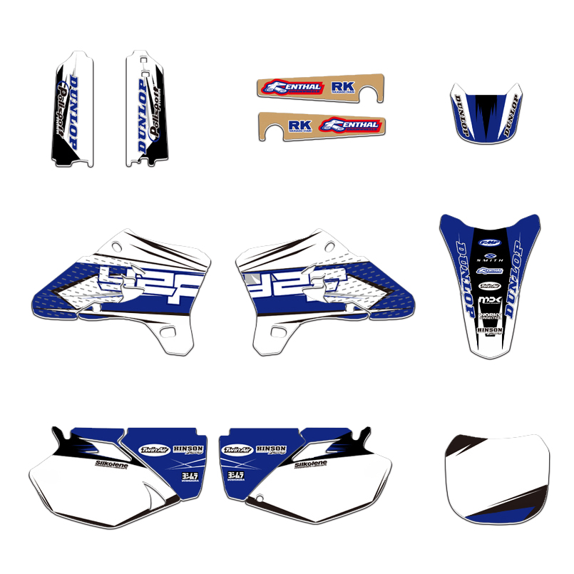 TEAM GRAPHICS BACKGROUNDS DECALS STICKERS Kits For Yamaha YZ250F YZ450F YZF250 YZF450 2003 2004 2005 YZF250