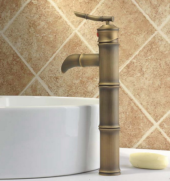 Vintage Antique Brass Single Lever Bamboo Shaped Bathroom Vanity Basin Faucet Mixer Tap Cnf025Vintage Antique Brass Single Lever Bamboo Shaped Bathroom Vanity Basin Faucet Mixer Tap Cnf025