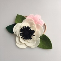 Lovely Flower Shaped Elastic Polyester Baby Girls Hairbands Children Hair Accessories