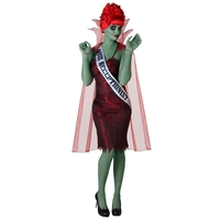 Spooky And Cute Miss Dead Receptionist Halloween Costume Womens The Most Dazzling Ghoul Fancy Dress For Demon Theme Party