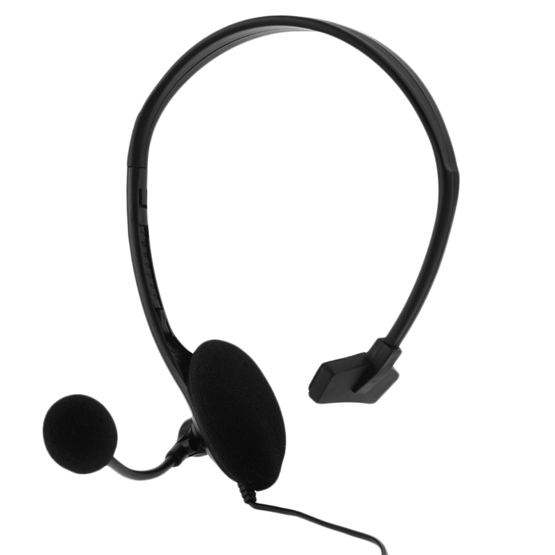 3.5mm Jack Wired Earphone Gaming Headphones Single Side Game Headset Noise Cancelling with Mic for PS4 Game PC