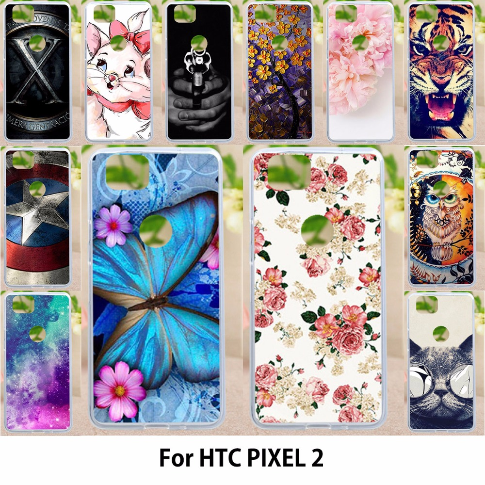 Cases For HTC Pixel2 Google Pixel 2 Soft Silicone Cover Phone Case For HTC Pixel2 Google Pixel 2
