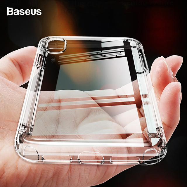 Baseus Phone Case For iPhone Xs Max Xr Anti-Knock Coque Soft TPU Silicone Protective Back Cover For iPhone XS X S R Xsmax Fundas