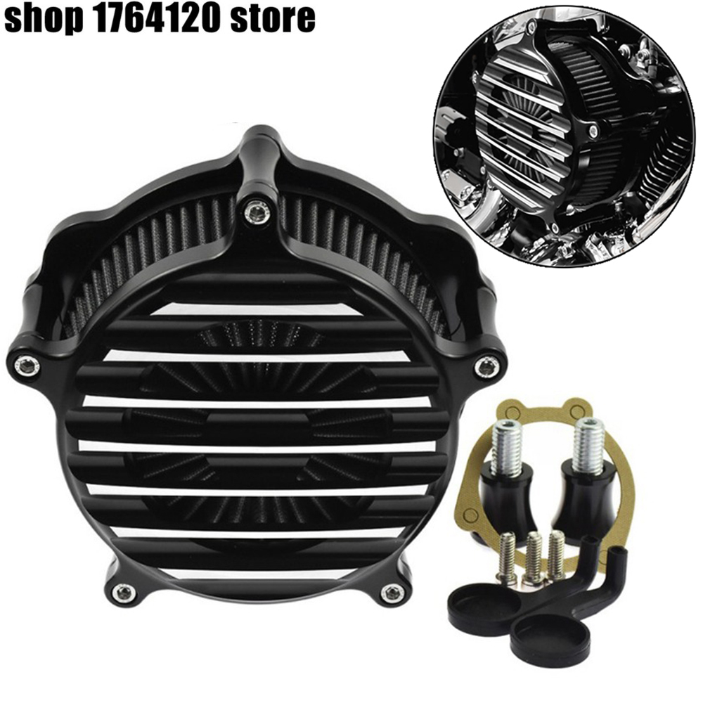 Motorcycle Air Cleaner Intake Filter For Harley Dyna FXDLS 2017 Softail 200 2015 Touring 2017 up