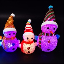 Popular snowman rope light buy cheap snowman rope light lots from 3pcs colorful flash christmas snowman snowflake santa claus led night lights with hang rope gift holiday decorations xmas aloadofball Images