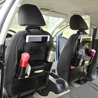 2pcs car seat back organizer pocket storage bag car leather snake skin texture multi purpose hanging bag for BMW Audi Volkswagen
