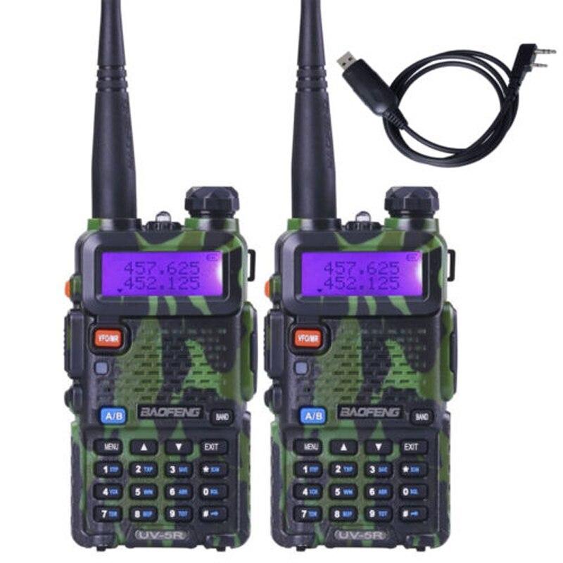 bilder für 2 teile/los Camouflage BAOFENG UV-5R Dual Band VHF UHF Walkie Talkie Zubehör Handheld Zweiwegradio Ham radio
