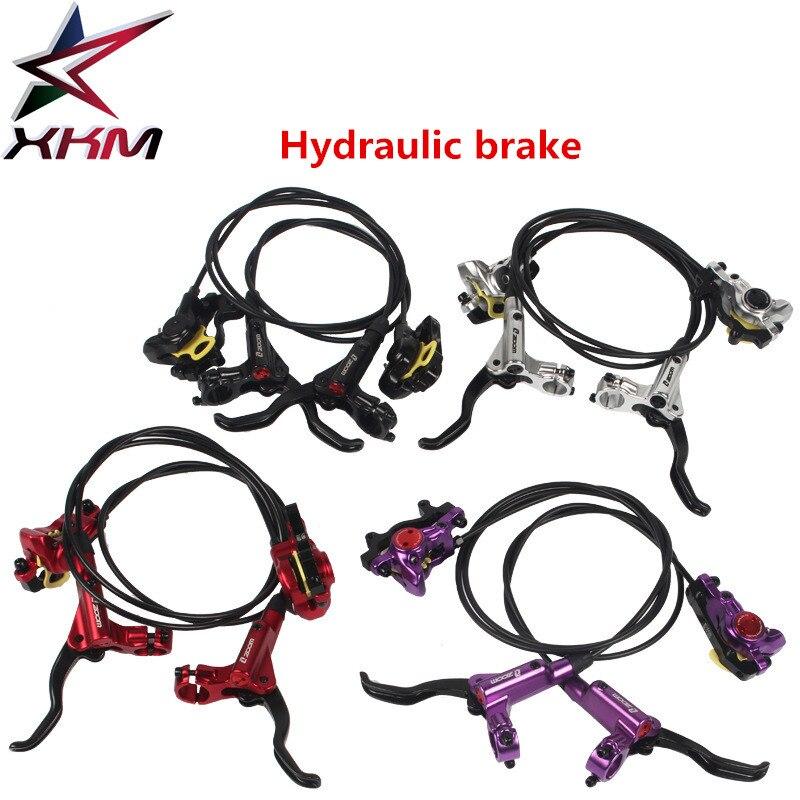 1 paire de vélos frein hydraulique cylindre intégré frein bidirectionnel freins gauche et droite 4 couleur VTT freins route