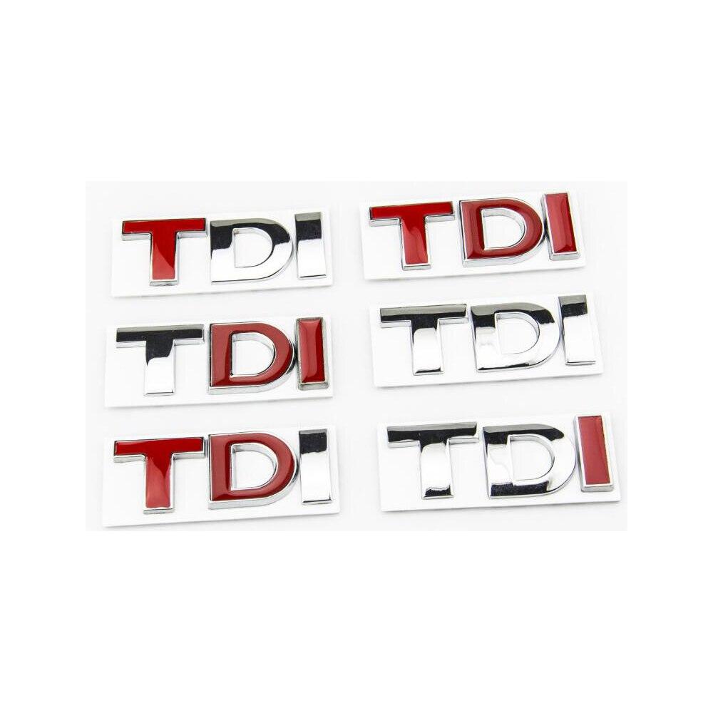 3D Letters TDI Car Stickers For VW Golf 4 5 6 7 mk6 mk7 grips наклейки hong 50 5 8 4 vw golf mk7 stikers