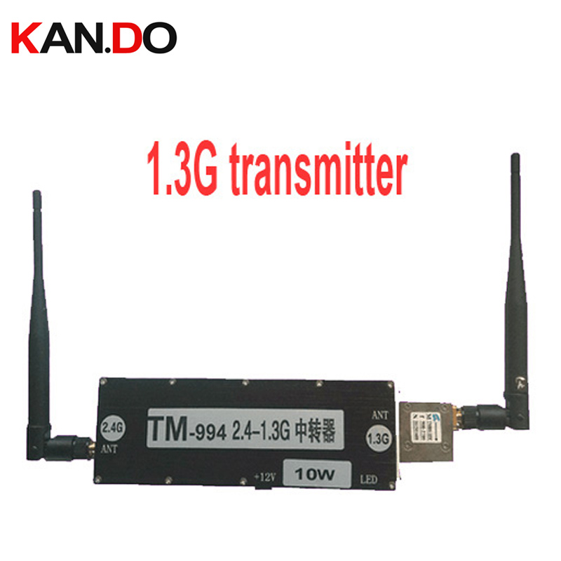 10W CCTV transfer server video relay 2.4G to 1.3G extender 2.4G 1.3G FPV transmitter wireless transmitter 2.4G drone transmiter