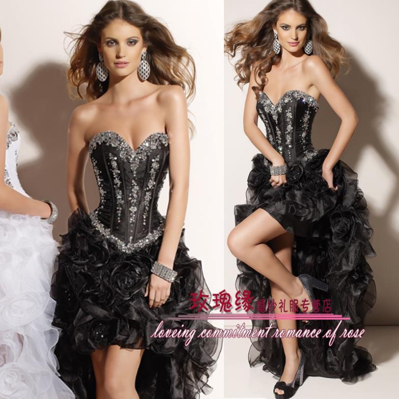 Livraison gratuite 2013 strass formelle robe de soirée robe de coctail robes pour les femmes sexy vacances robes noir fête robes de bal