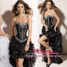 free shipping 2013 rhinestone formal evening gown coctail dress gowns for women sexy holiday dresses black party prom Dresses