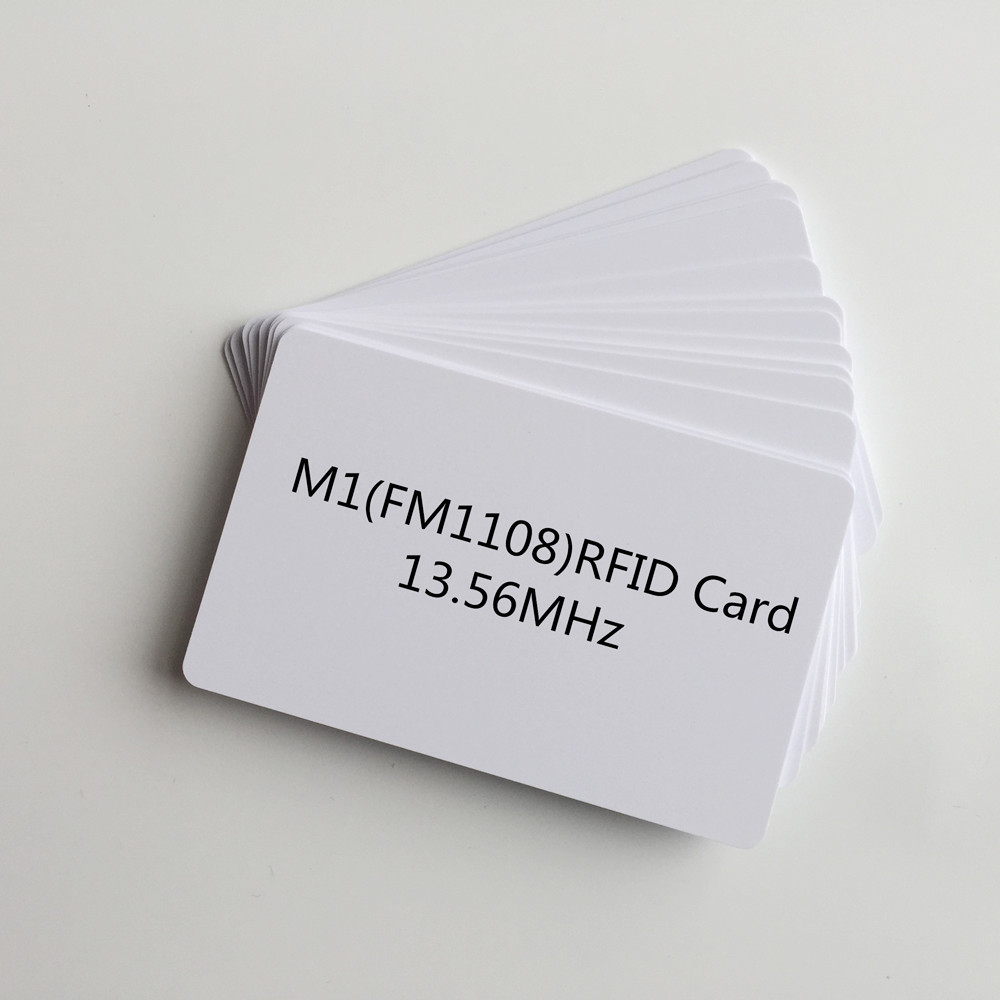 100pcs/lot Blank White Inkjet PVC RFID proximity 13.56MHZ chip pvc Card Smart Cantactless IC Card for membership card