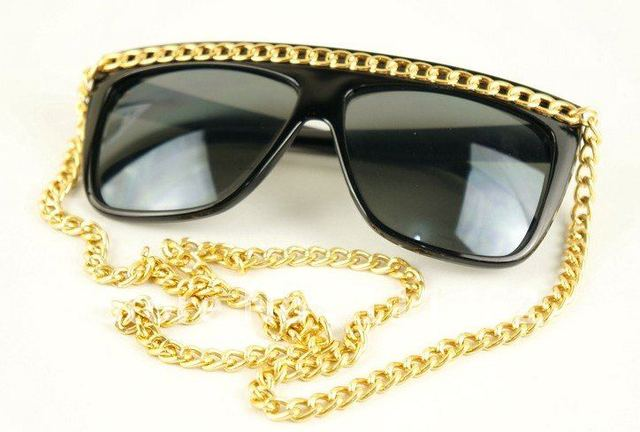 Ladygaga love with gold and silver thick chain cheap sunglasses Wholesale Lot promotion sunglasses UV