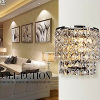Crystal Light / Modern simple and stylish bedroom bed living room dining hallway lighting Wall Lamps Rmy 0302