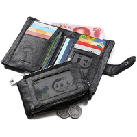 Men Wallets Dollar Price Purse Genuine Leather luxury Designer Clutch Business Mini Wallet Card Holder Coin Pocket For Man