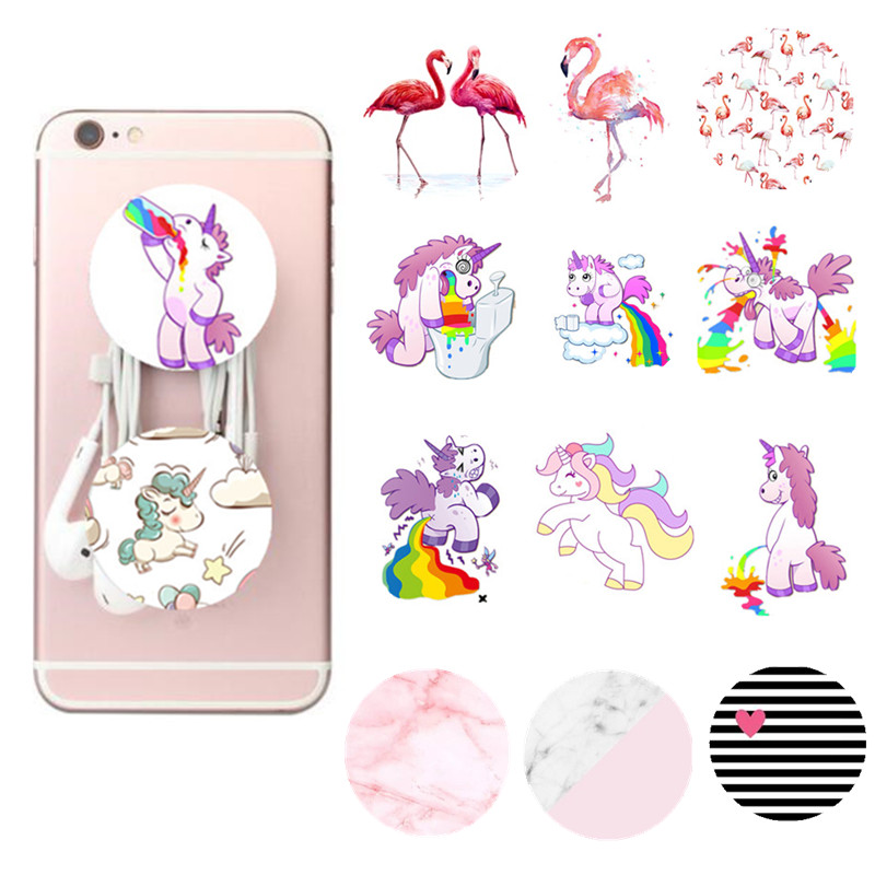 Marbles Unicorn Phone Holder Expanding Stand And Grip Mount For Smartphones And Tablets Round Finger Ring Mount Mobile Phone Accessories Cellphones & Telecommunications