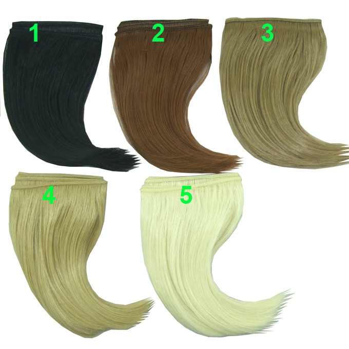 Color choose 15cm*100CM big curl brown falxen brown black khaki natural color BJD Doll W ...