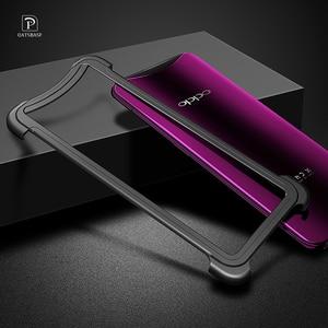 Image 2 - OATSBASF Luxury Metal Frame Shape Shockproof Case For OPPO Find X Protect Case Push pull design Back Phone Cover Case Bumper