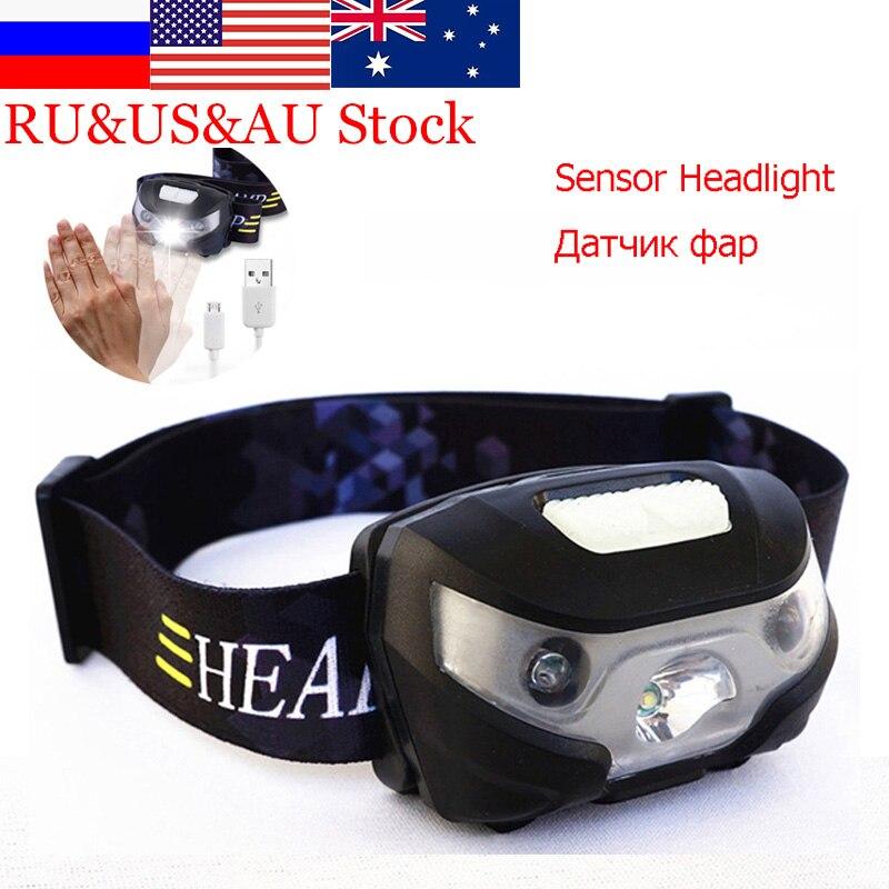 ZK50 Mini LED Scheinwerfer 3000Lm Körper Motion Sensor Scheinwerfer Wiederaufladbare Camping Jagd Angeln Taschenlampe Kopf Taschenlampe Lampe USB