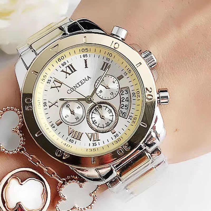 2020 frauen Uhren Genf Berühmte Luxus Marke Mode Gold Uhren Für Damen Casual Weibliche Quarzuhr frauen Armbanduhren