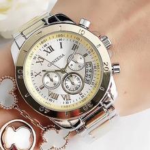 2020 kobiet zegarki genewa słynnej luksusowej marki mody złote zegarki dla pań Casual kobiet kwarcowe zegarki damskie na rękę tanie tanio contena QUARTZ Składane zapięcie z bezpieczeństwem Stop Nie wodoodporne Moda casual 18mm ROUND 11mm Odporny na wstrząsy