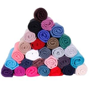 Image 5 - High quality jersey scarf cotton plain elasticity shawls maxi hijab long muslim head wrap long scarves/scarf 10pcs/lot 35 color