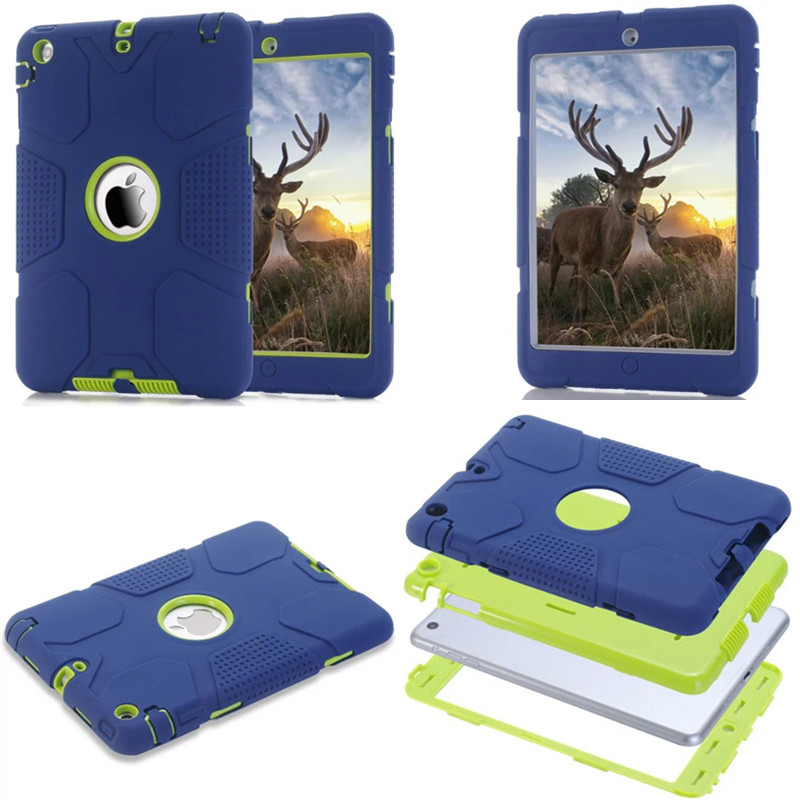 LD-Hybrid Cover For iPad mini 1/2/3 Retina Kids Safe Armor Shockproof Heavy Duty Silicone Back Case For Ipad mini2 mini3 women short wallet vintage coin purse clutch clip lovely animal prints soft leather small purse carteras mujer sacoche homme