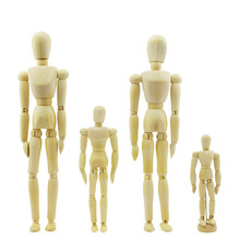 Wooden Man Organic Material Wood People Modern Person Model Figurines Room Decorative Crafts Gifts Miniatures