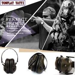 الجيش والعتاد واقيات الأذن لمكافحة الضوضاء سماعة تكتيكية ipsc الرماية الرياضة حماية الصيد 3.5 المكونات الإلكترونية