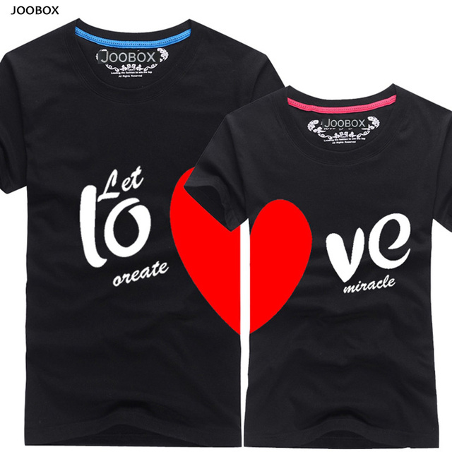 a589ebf7f3 2016 New Upgrade Couples Men & Women Heart LOVE t-shirts Printing100% Cotton  Couple Lovers tshirts couple lovers couple t shirt