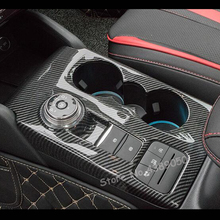 цена на For Ford Focus 2019 ABS Matte/Carbon fibre Interior Car gear shift knob frame panel Decoration Cover Trim Car Styling Accessorie