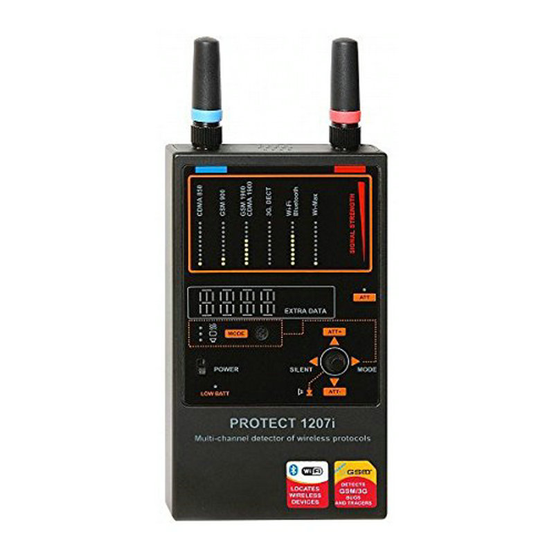 Spytec Protect 1207i Multi channel Anti spy Detector Camera GSM Audio Bug Finder GPS Signal Lens RF Tracker Detect Free Shipping